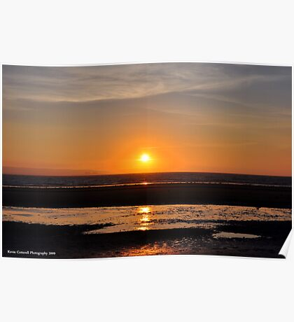 Champagne Sunset Poster