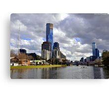 Melbourne & The Yarra Canvas Print