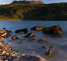 Mt Tarawera, North Island, New Zealand. by Michael Treloar