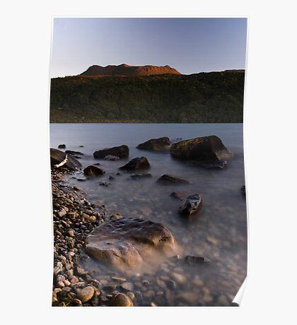 Mt Tarawera, Sunset Poster