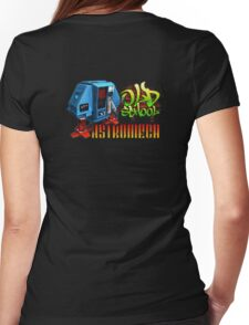 Old School Astromech - Back Womens Fitted T-Shirt