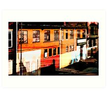 a street in philly Art Print