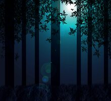 Woodland Moonlight by Stephanie Rachel Seely