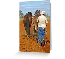 HAND FURROW PLOW. Greeting Card