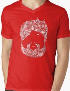 Furry Friend (white ink edition) Mens V-Neck T-Shirt