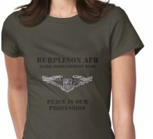 Burpleson AFB - Peace is our Profession Womens Fitted T-Shirt