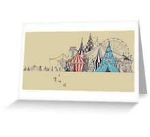 circus and goers Greeting Card