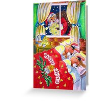 Waiting for Santa Claus Greeting Card
