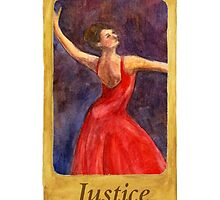 Ballet Tarot Cards: Justice by Julia Tyler