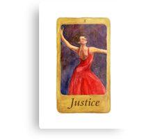 Ballet Tarot Cards: Justice Metal Print