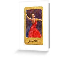 Ballet Tarot Cards: Justice Greeting Card