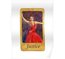 Ballet Tarot Cards: Justice Poster
