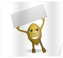lemon card for text Poster