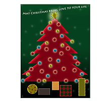 May Christmas bring love to you; this is my wish for you.   Photographic Print