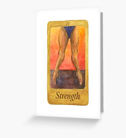 Ballet Tarot Cards: Strength Greeting Card