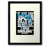 Paul Walker Tribute shirt Framed Print