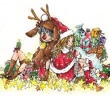 Santa's little Helpers by yellowbee
