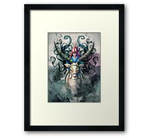 Ashitaka Demon Mononoke Digital Painting Framed Print