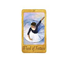 Ballet Tarot Cards: Wheel of Fortune Photographic Print