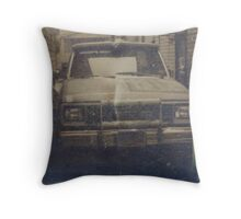 Old Truck Tintype Photograph Dry Plate Throw Pillow