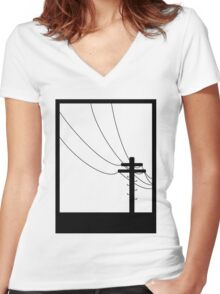 Black Box Women's Fitted V-Neck T-Shirt