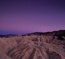 Evening Moon Over Zabriskie Point, Death Valley, CA by Tom Fant