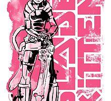 Blade Kitten - Black, White and Pink by Steve Stamatiadis