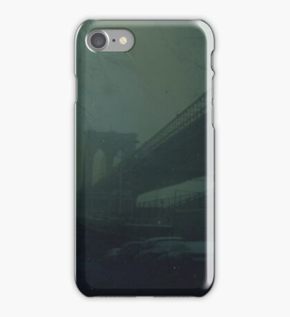 Brooklyn Bridge Dry Plate Tintype Photograph iPhone Case/Skin