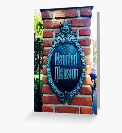Haunted Mansion  Greeting Card