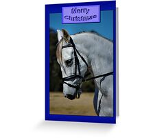 WHITE HORSE CHRISTMAS CARD - MERRY CHRISTMAS Greeting Card