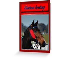 HORSE FACE PROFILE CHRISTMAS CARD - CHRISTMAS GREETINGS Greeting Card