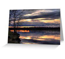 Sunset at Otter Falls Greeting Card