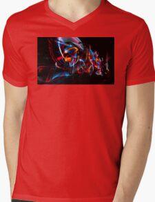Dark Light Lane Mens V-Neck T-Shirt