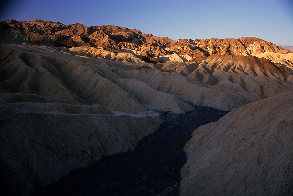Dry River Bed, Zabriskie Point, Death Valley, CA by Tom Fant