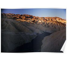 Dry River Bed, Zabriskie Point, Death Valley, CA Poster