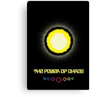 The Power of Chaos - Golden Flash Canvas Print