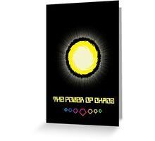 The Power of Chaos - Golden Flash Greeting Card