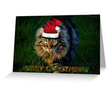 MERRY CHRISTMEOW - CHRISTMAS CARD Greeting Card