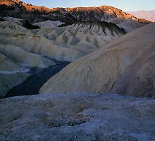 Morning Light On Zabriskie Point, Death Valley, CA by Tom Fant