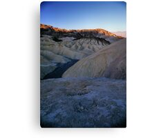 Morning Light On Zabriskie Point, Death Valley, CA Canvas Print
