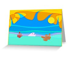 ocean fun_vacations card_no text Greeting Card