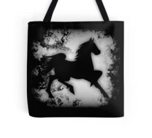 Western-look Black and White Horse Silhouette Tote Bag