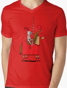 Jumpy Knight Mens V-Neck T-Shirt