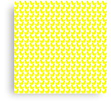 Cute Little Yellow Duckies Pattern Canvas Print
