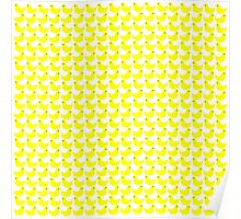 Cute Little Yellow Duckies Pattern Poster