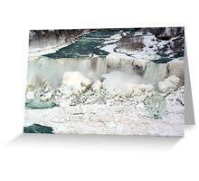 Niagara Falls at Winter. Greeting Card