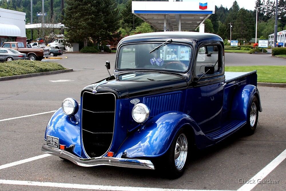 Quot 1936 Ford Pickup Truck Quot By Chuck Gardner Redbubble
