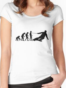 Skier Evolution Women's Fitted Scoop T-Shirt