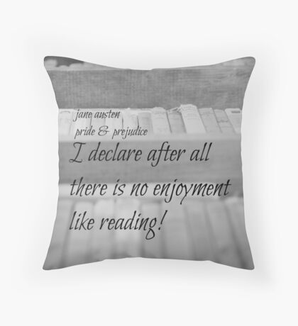 Jane Austen Reading Throw Pillow