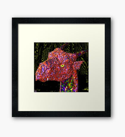 Hello Out There. Framed Print